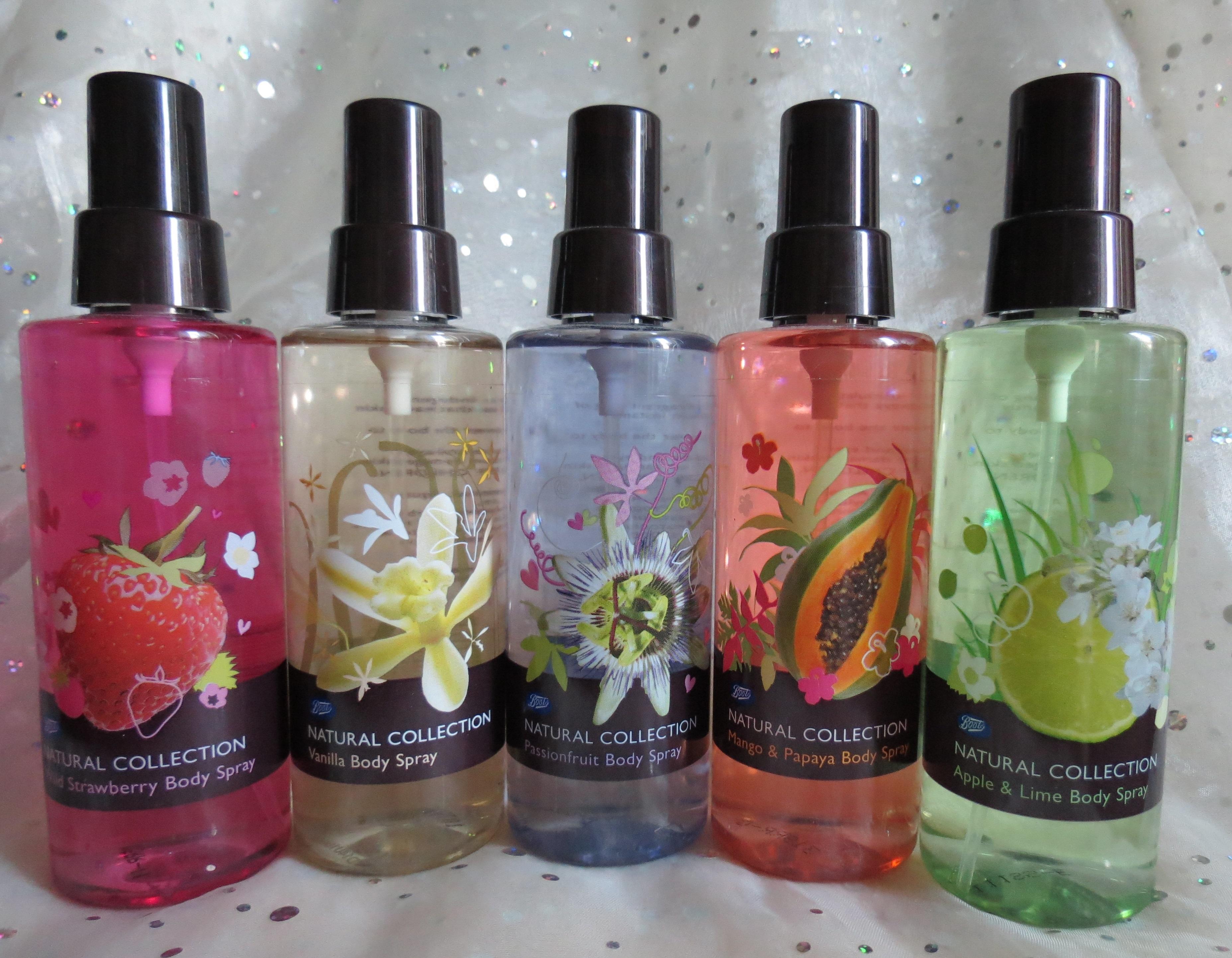 Natural Body Sprays Fragrance