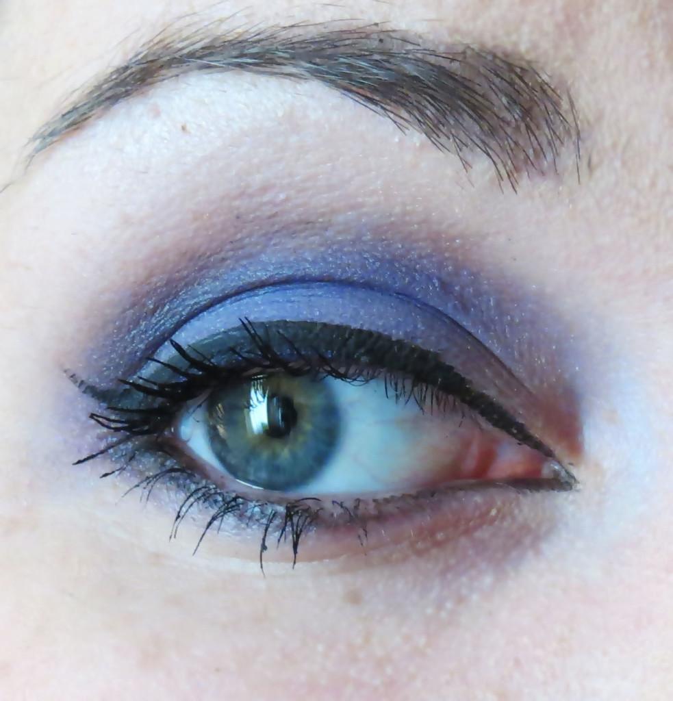Eye open purple look