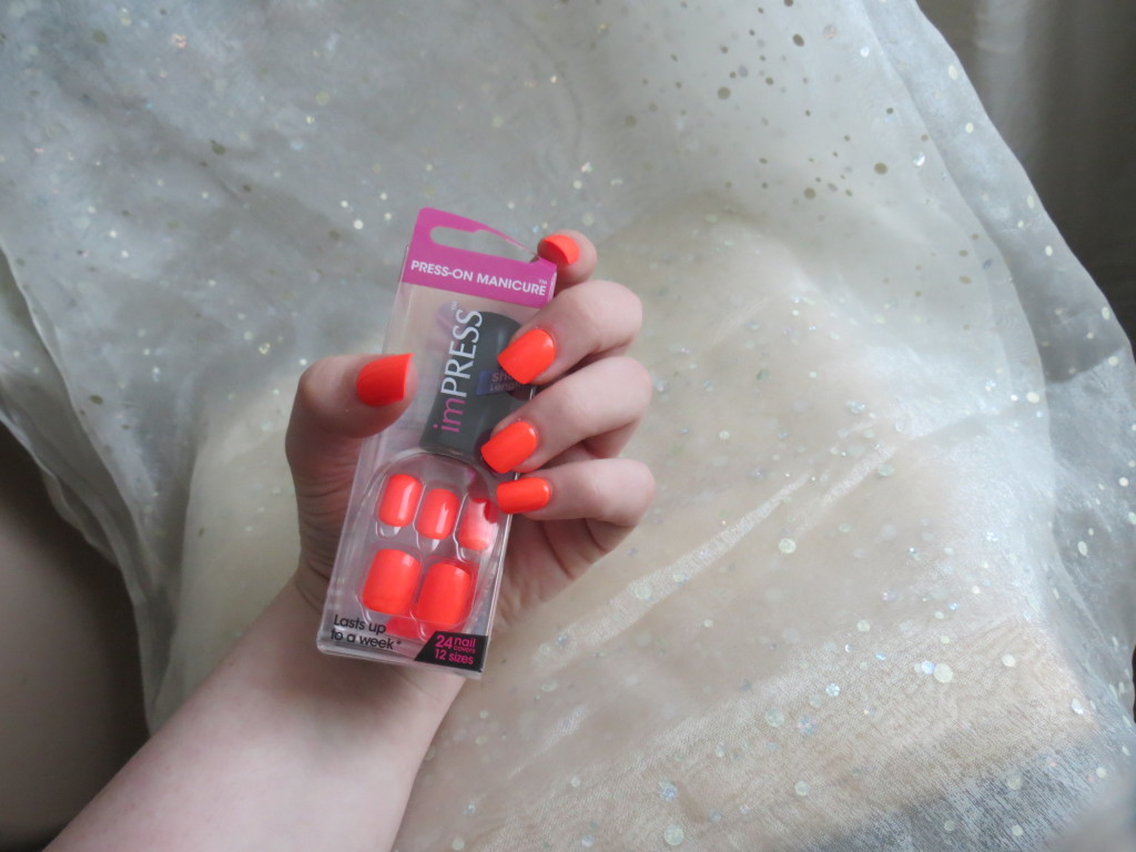 imPRESS nails short orange