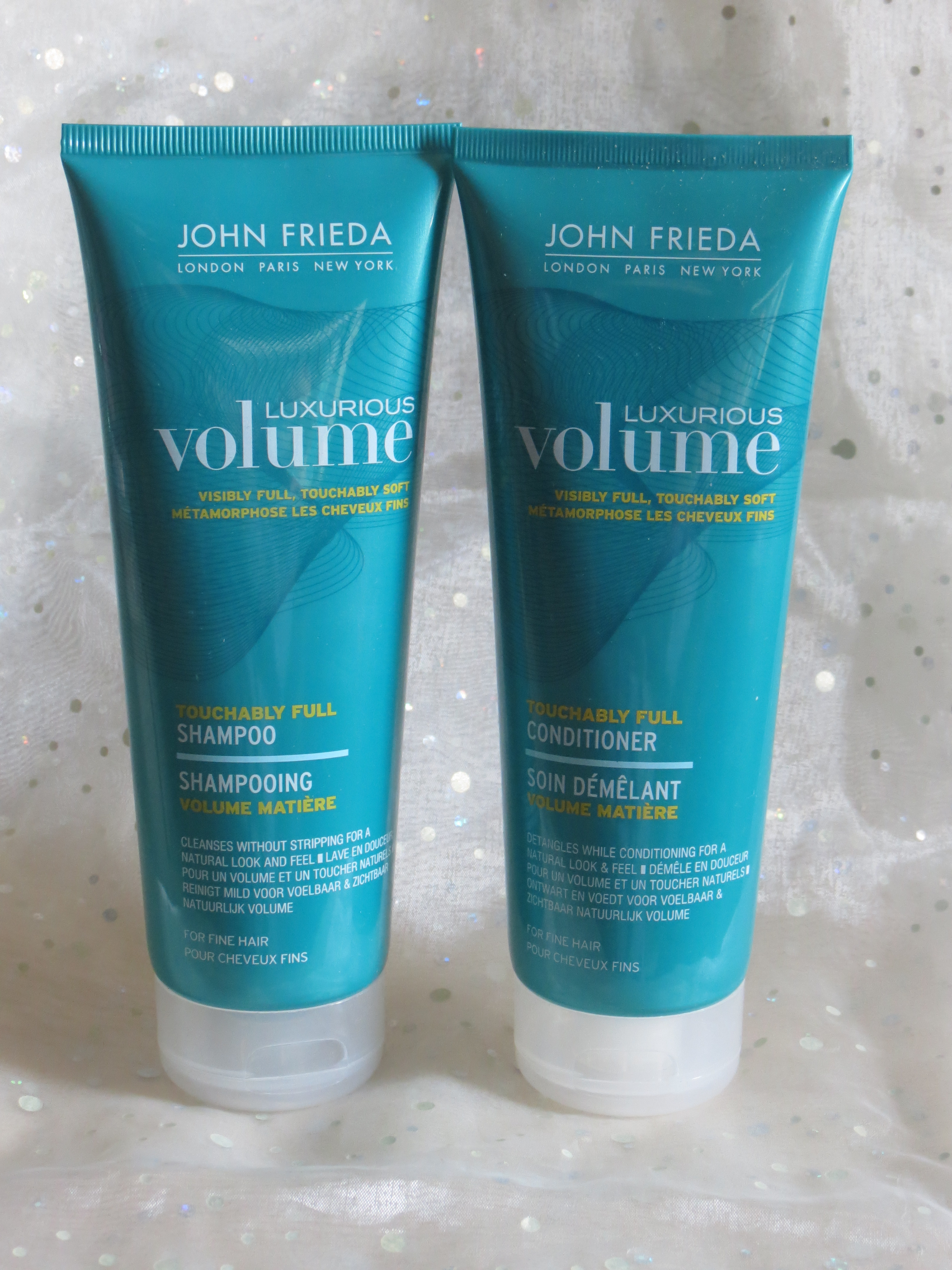 john frieda luxurious volume shampoo conditioner and blow out spray katherine mclee. Black Bedroom Furniture Sets. Home Design Ideas